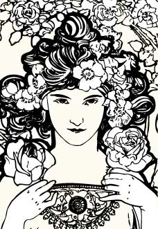 rose-by-mucha-draw
